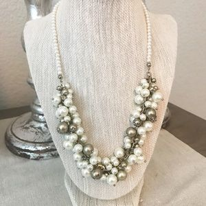 LOFT Pearl and Gold Bead Necklace